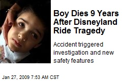 Boy Dies 9 Years After Disneyland Ride Tragedy