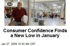 Consumer Confidence Finds a New Low in January
