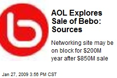 AOL Explores Sale of Bebo: Sources