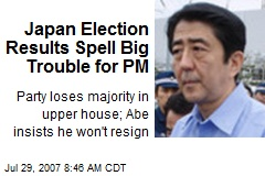 Japan Election Results Spell Big Trouble for PM