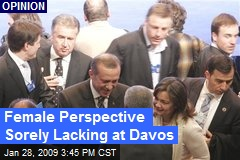 Female Perspective Sorely Lacking at Davos