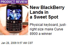 New BlackBerry Lands in a Sweet Spot