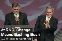 At RNC, Change Means Bashing Bush