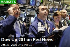 Dow Up 201 on Fed News