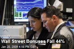 Wall Street Bonuses Fall 44%