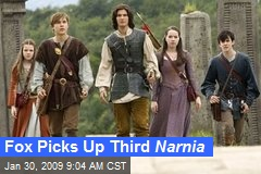 Fox Picks Up Third Narnia