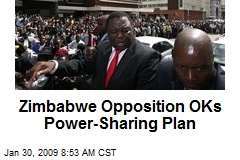Zimbabwe Opposition OKs Power-Sharing Plan