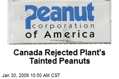 Canada Rejected Plant's Tainted Peanuts