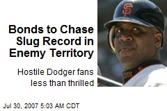 Bonds to Chase Slug Record in Enemy Territory