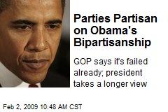 Parties Partisan on Obama's Bipartisanship