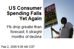 US Consumer Spending Falls Yet Again