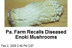 Pa. Farm Recalls Diseased Enoki Mushrooms