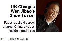 UK Charges Wen Jibao's Shoe-Tosser