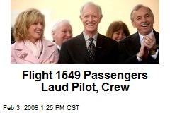 Flight 1549 Passengers Laud Pilot, Crew