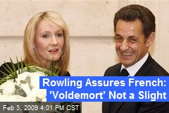 Rowling Assures French: 'Voldemort' Not a Slight