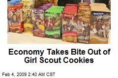 Economy Takes Bite Out of Girl Scout Cookies