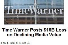 Time Warner Posts $16B Loss on Declining Media Value