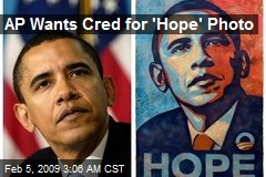 AP Wants Cred for 'Hope' Photo