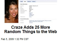 Craze Adds 25 More Random Things to the Web