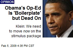 Obama's Op-Ed Is 'Boilerplate' but Dead On