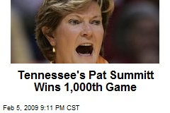 Tennessee's Pat Summitt Wins 1,000th Game
