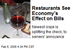 Restaurants See Economy's Effect on Bills