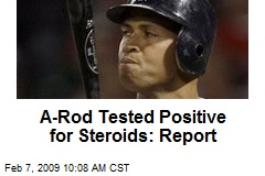 A-Rod Tested Positive for Steroids: Report