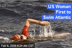 US Woman First to Swim Atlantic