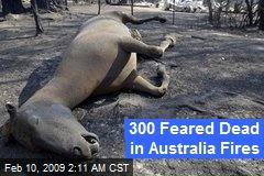 300 Feared Dead in Australia Fires