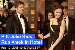 Pitt-Jolie Kids Run Amok in Hotel