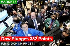Dow Plunges 382 Points