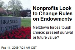 Nonprofits Look to Change Rules on Endowments