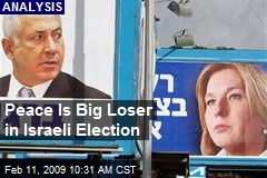 Peace Is Big Loser in Israeli Election
