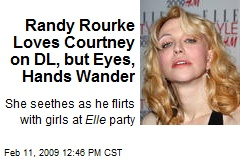 Randy Rourke Loves Courtney on DL, but Eyes, Hands Wander