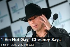'I Am Not Gay,' Chesney Says