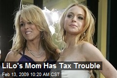 LiLo's Mom Has Tax Trouble