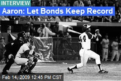 Aaron: Let Bonds Keep Record