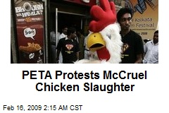 PETA Protests McCruel Chicken Slaughter