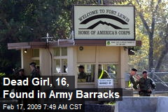 Dead Girl, 16, Found in Army Barracks