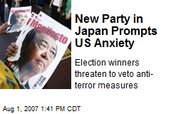 New Party in Japan Prompts US Anxiety
