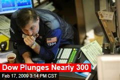 Dow Plunges Nearly 300