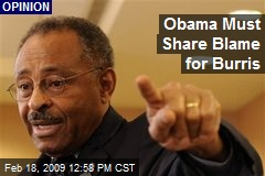 Obama Must Share Blame for Burris