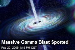 Massive Gamma Blast Spotted
