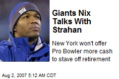 Giants Nix Talks With Strahan