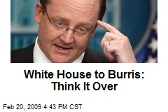 White House to Burris: Think It Over