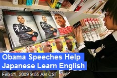 Obama Speeches Help Japanese Learn English