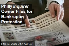 Philly Inquirer Owner Files for Bankruptcy Protection