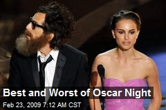 Best and Worst of Oscar Night