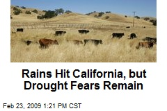 Rains Hit California, but Drought Fears Remain