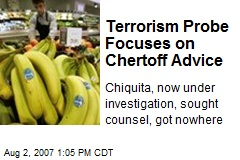 Terrorism Probe Focuses on Chertoff Advice